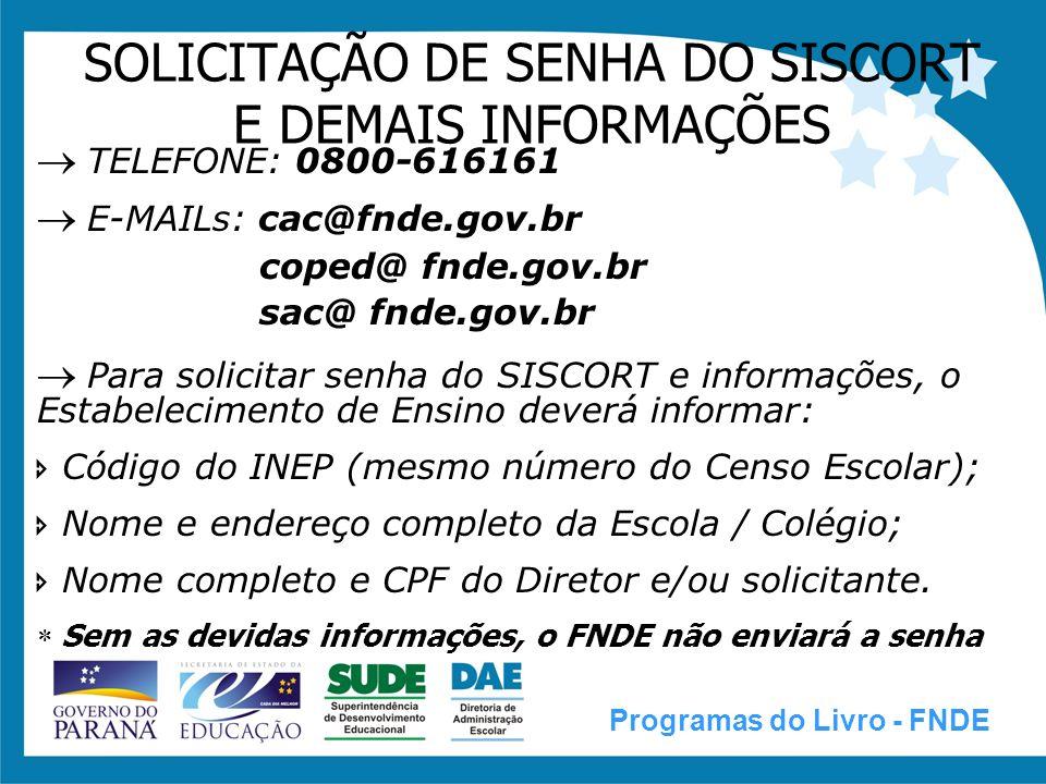 PNLD / PNLEM / PNBE 2009 Programas do Livro - FNDE