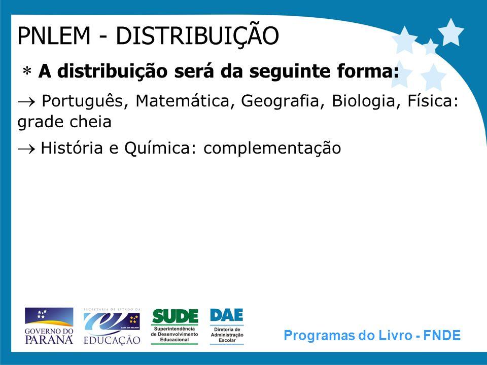PNBE - DISTRIBUIÇÃO Distribuição no primeiro semestre/2009, tanto às escolas públicas de 5ª a 8ª séries ou de 6º ao 9º ano, quanto às de Ensino Médio, acervos do PNBE/2009.