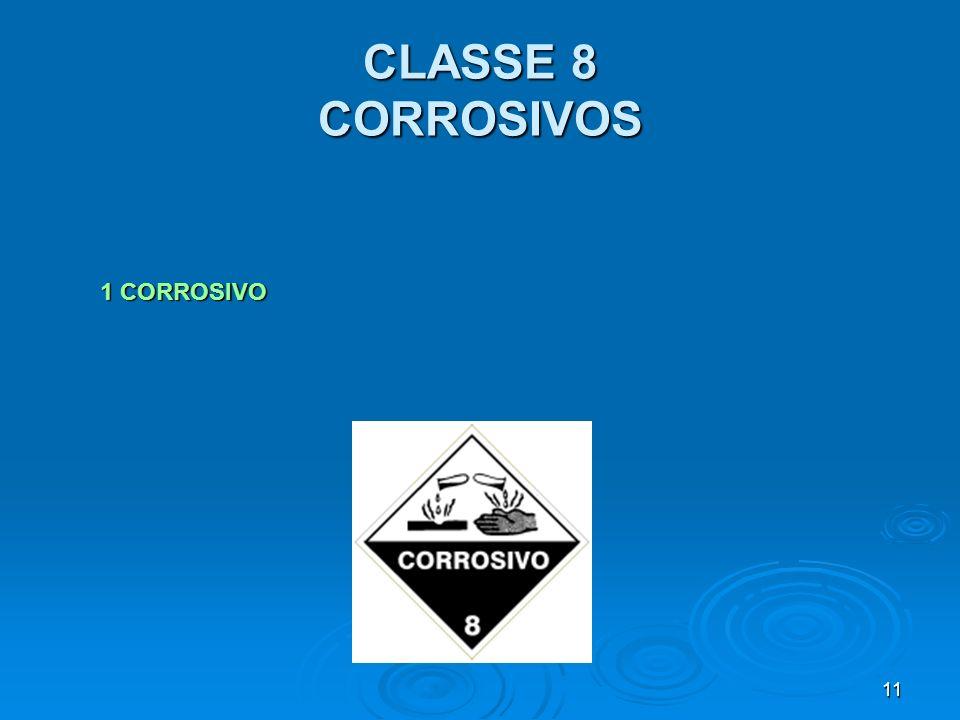 11 CLASSE 8 CORROSIVOS 1 CORROSIVO