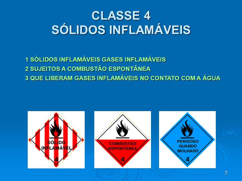 8 CLASSE 5 SUBSTÂNCIAS OXIDANTES E PERÓXIDOS ORGÂNICOS 1 OXIDANTES 2 PERÓXIDOS ORGÂNICOS