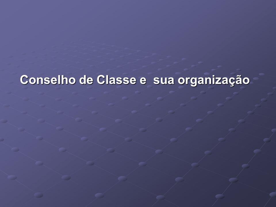 Conselho de Classe e sua organização Conselho de Classe e sua organização