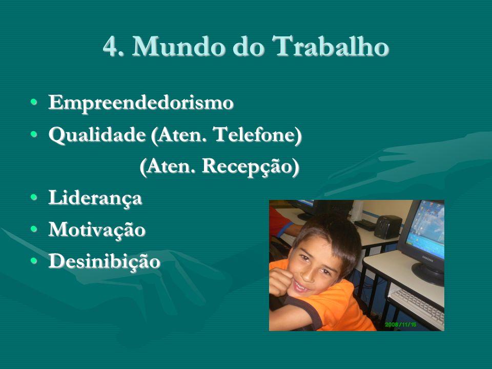 4. Mundo do Trabalho EmpreendedorismoEmpreendedorismo Qualidade (Aten.