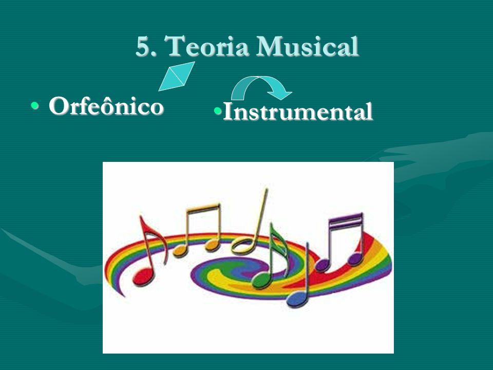 5. Teoria Musical OrfeônicoOrfeônico InstrumentalInstrumental