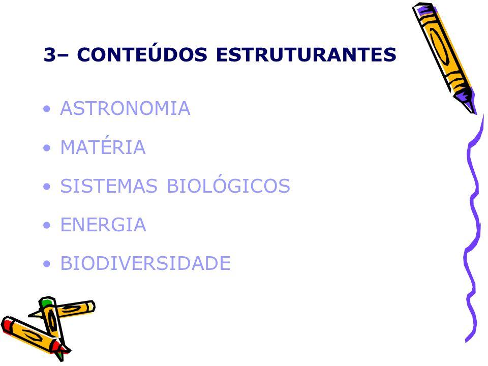 4- CONTEÚDOS BÁSICOS ASTRONOMIA UNIVERSO SISTEMA SOLAR MOVIMENTOS CELESTES E TERRESTRES ASTROS ORIGEM E EVOLUÇÃO DO UNIVERSO GRAVITAÇÃO UNIVERSAL