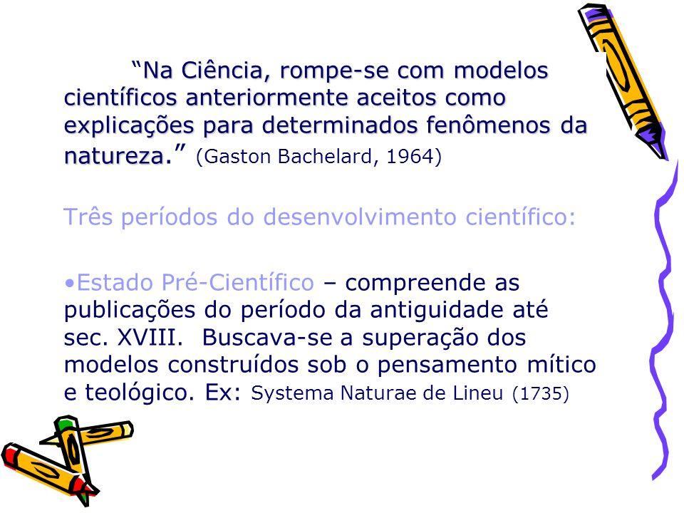 Estado Científico – compreende do final sec.XVIII até início do sec.