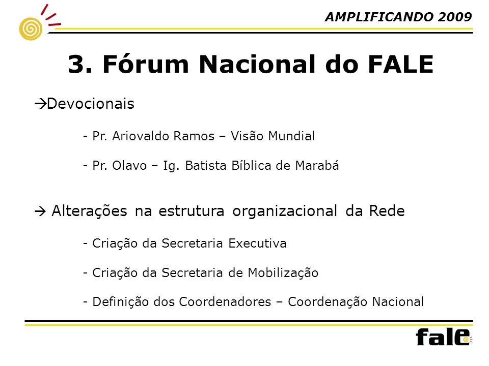 AMPLIFICANDO 2009 3. Fórum Nacional do FALE Devocionais - Pr.