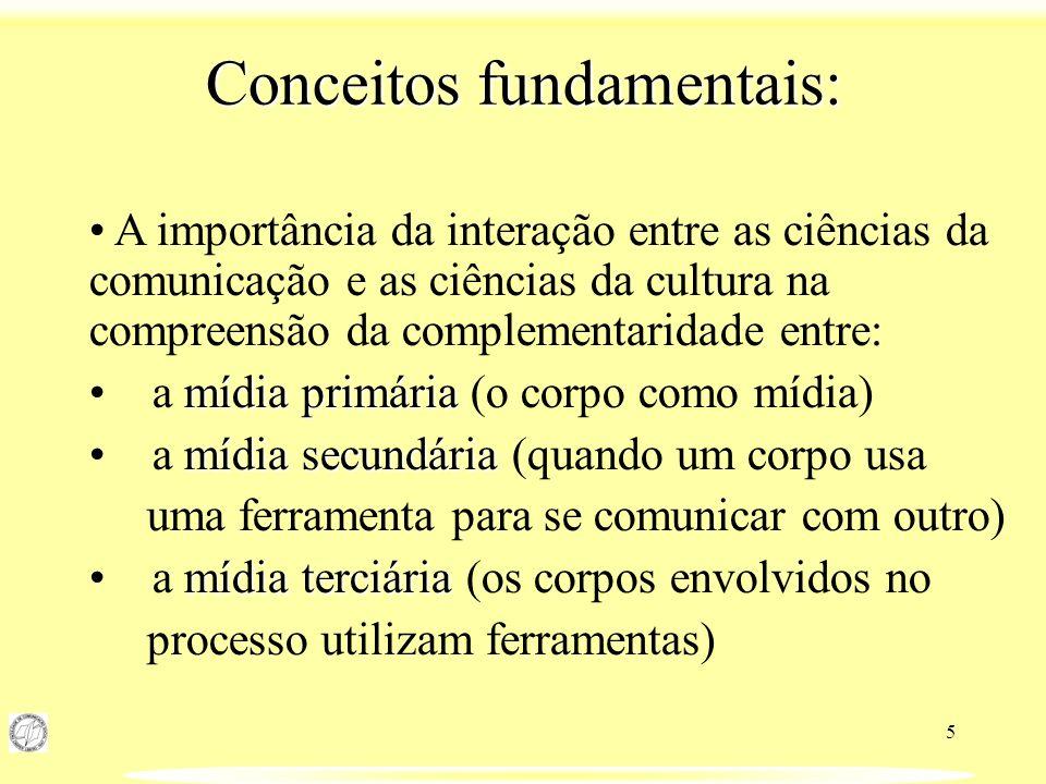 5 Conceitos fundamentais: A importância da interação entre as ciências da comunicação e as ciências da cultura na compreensão da complementaridade ent