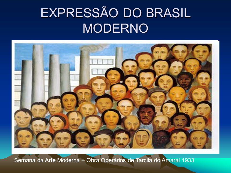 EXPRESSÃO DO BRASIL MODERNO Semana da Arte Moderna – Obra Operários de Tarcila do Amaral 1933