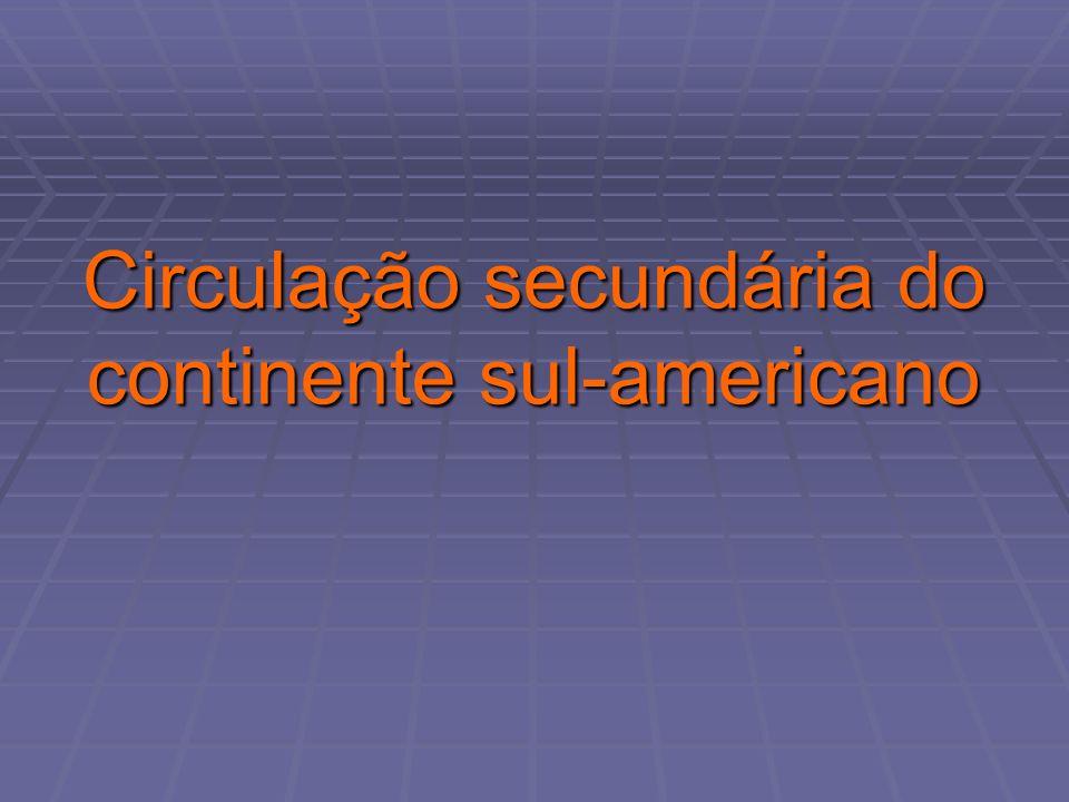 Circulação secundária do continente sul-americano