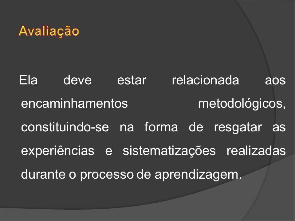 Ela deve estar relacionada aos encaminhamentos metodológicos, constituindo-se na forma de resgatar as experiências e sistematizações realizadas durant
