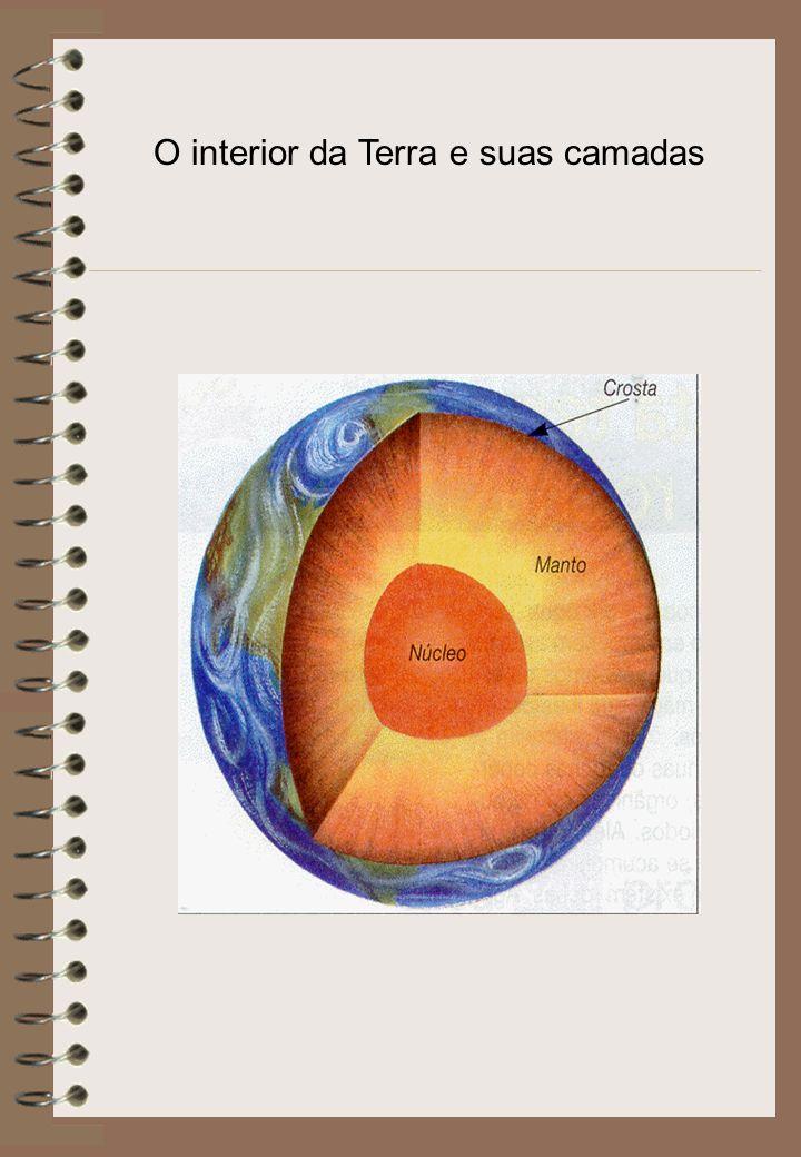 A Terra é constituída, basicamente, por três camadas: Crosta Terrestre: Camada superficial sólida que circunda a Terra.