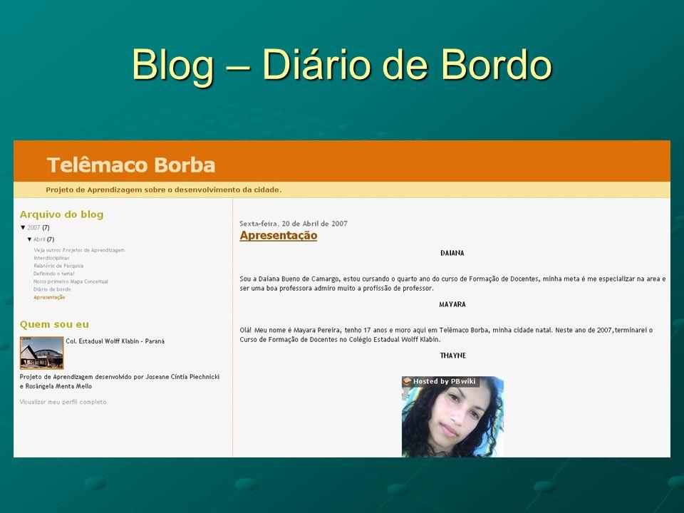 Blog – Diário de Bordo