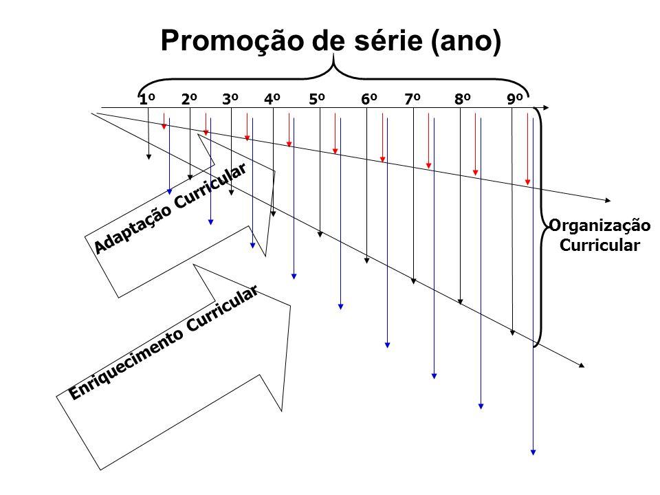 1º 3º2º5º4º 7º 6º9º8º Adaptação Curricular Enriquecimento Curricular Organização Curricular Promoção de série (ano)