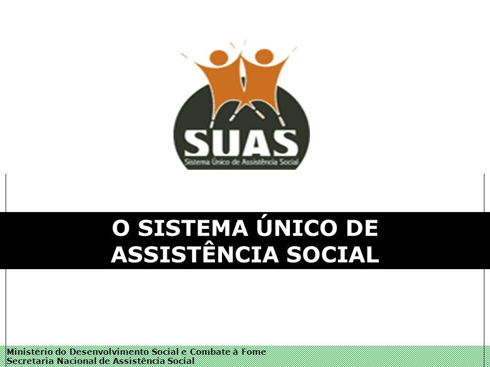 Ministério do Desenvolvimento Social e Combate à Fome Secretaria Nacional de Assistência Social O SISTEMA ÚNICO DE ASSISTÊNCIA SOCIAL