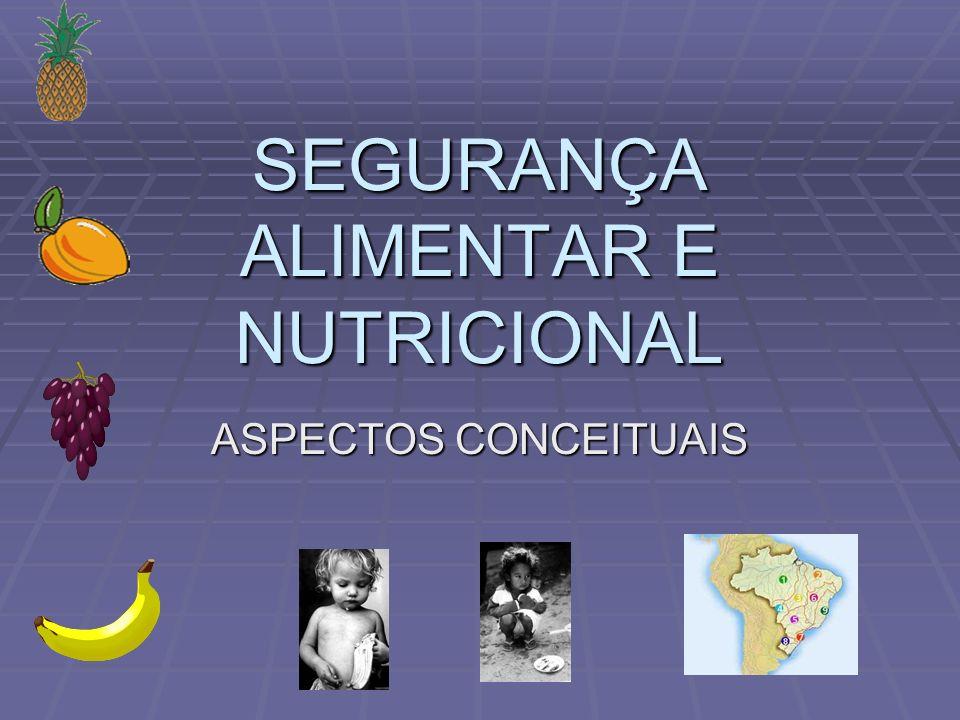 SEGURANÇA ALIMENTAR E NUTRICIONAL ASPECTOS CONCEITUAIS