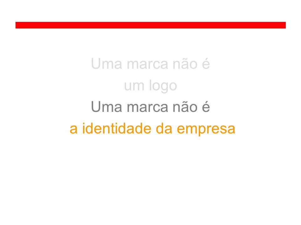 Uma marca não é um logo Uma marca não é a identidade da empresa