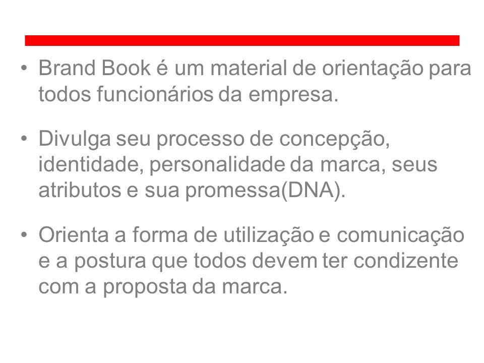 Brand Book é um material de orientação para todos funcionários da empresa. Divulga seu processo de concepção, identidade, personalidade da marca, seus