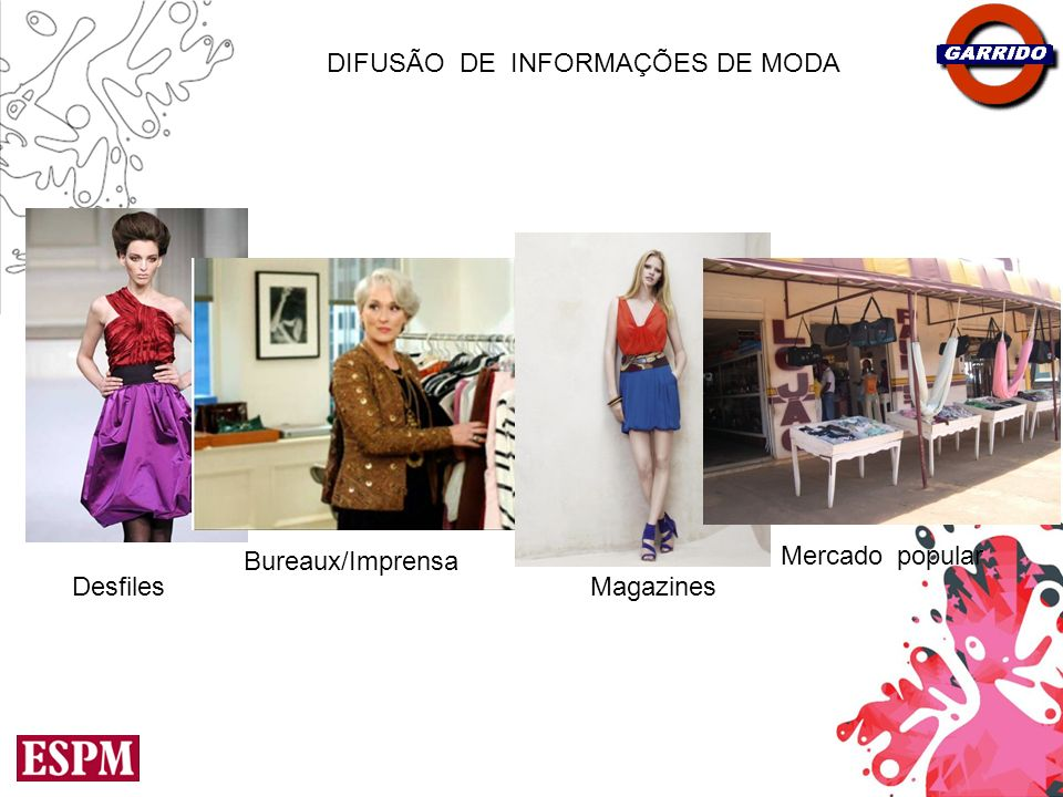 Desfiles Bureaux/Imprensa Magazines DIFUSÃO_DE_INFORMAÇÕES DE MODA Mercado_popular
