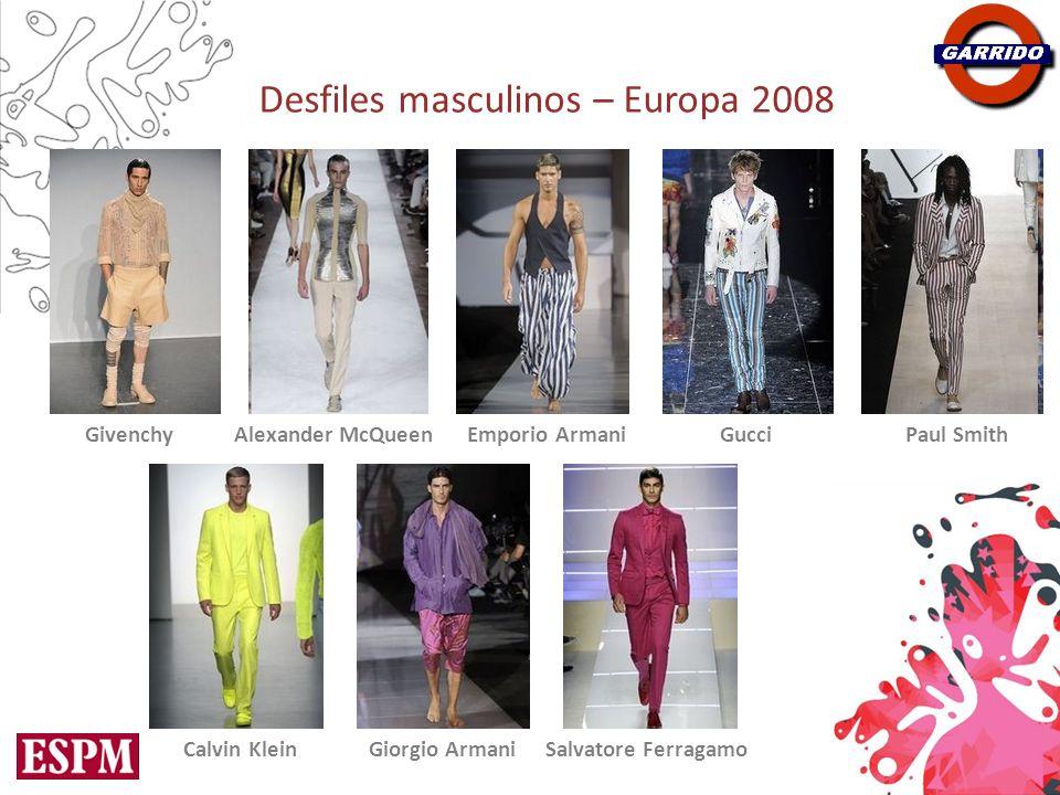 Desfiles masculinos – Europa 2008 GivenchyAlexander McQueenEmporio ArmaniGucciPaul Smith Calvin KleinGiorgio ArmaniSalvatore Ferragamo