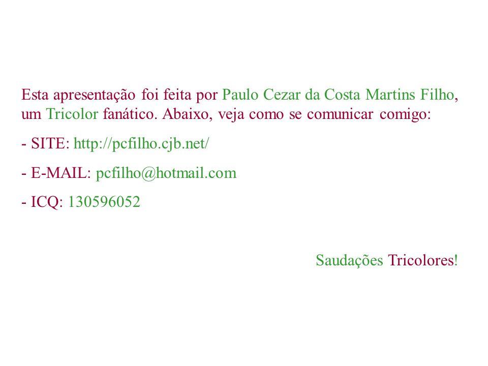 AGRADECEMOS ao webmaster do site da Young Flu, F3L1P3, por ter nos fornecido o arquivo com o hino do Fluzão! AGRADECEMOS também ao Fluminense Football
