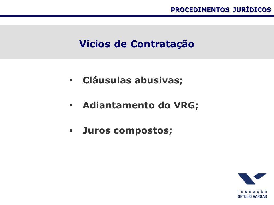 Vícios de Contratação Cláusulas abusivas; Adiantamento do VRG; Juros compostos;