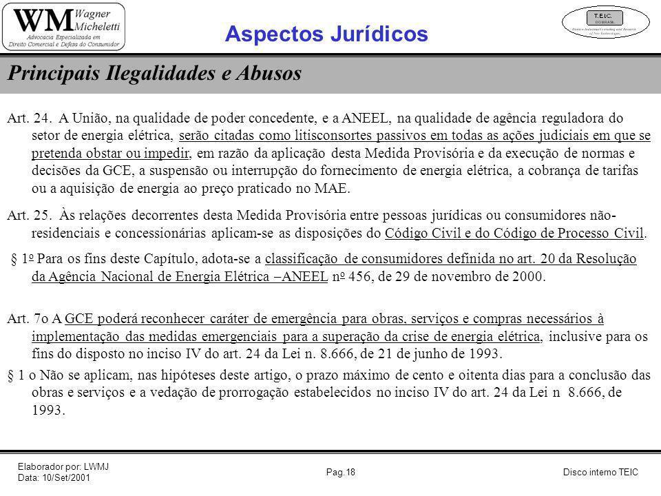 Pag.18 Art. 24. A União, na qualidade de poder concedente, e a ANEEL, na qualidade de agência reguladora do setor de energia elétrica, serão citadas c
