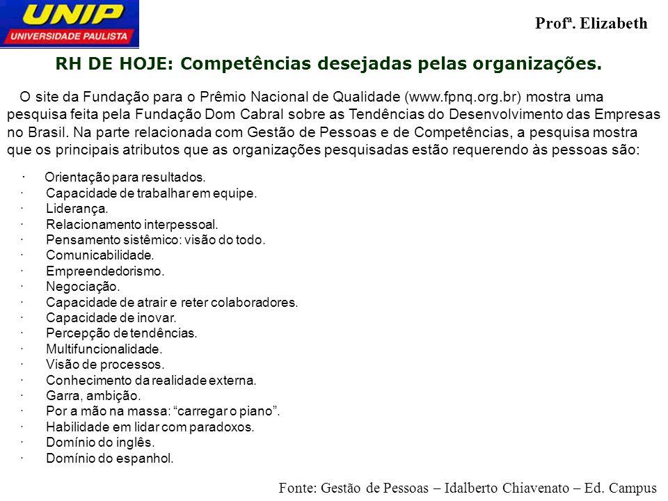 O site da Fundação para o Prêmio Nacional de Qualidade (www.fpnq.org.br) mostra uma pesquisa feita pela Fundação Dom Cabral sobre as Tendências do Des