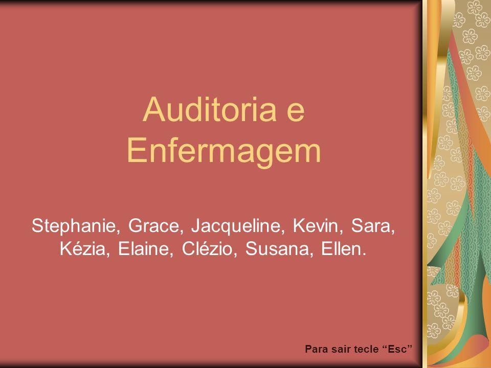 Para sair tecle Esc Auditoria e Enfermagem Stephanie, Grace, Jacqueline, Kevin, Sara, Kézia, Elaine, Clézio, Susana, Ellen.