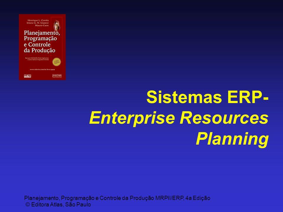 Planejamento, Programação e Controle da Produção MRPII/ERP, 4a Edição © Editora Atlas, São Paulo Sistemas ERP- Enterprise Resources Planning