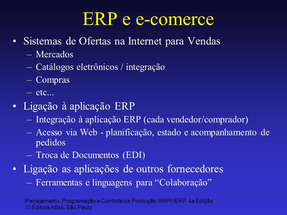 Planejamento, Programação e Controle da Produção MRPII/ERP, 4a Edição © Editora Atlas, São Paulo ERP e e-comerce Sistemas de Ofertas na Internet para
