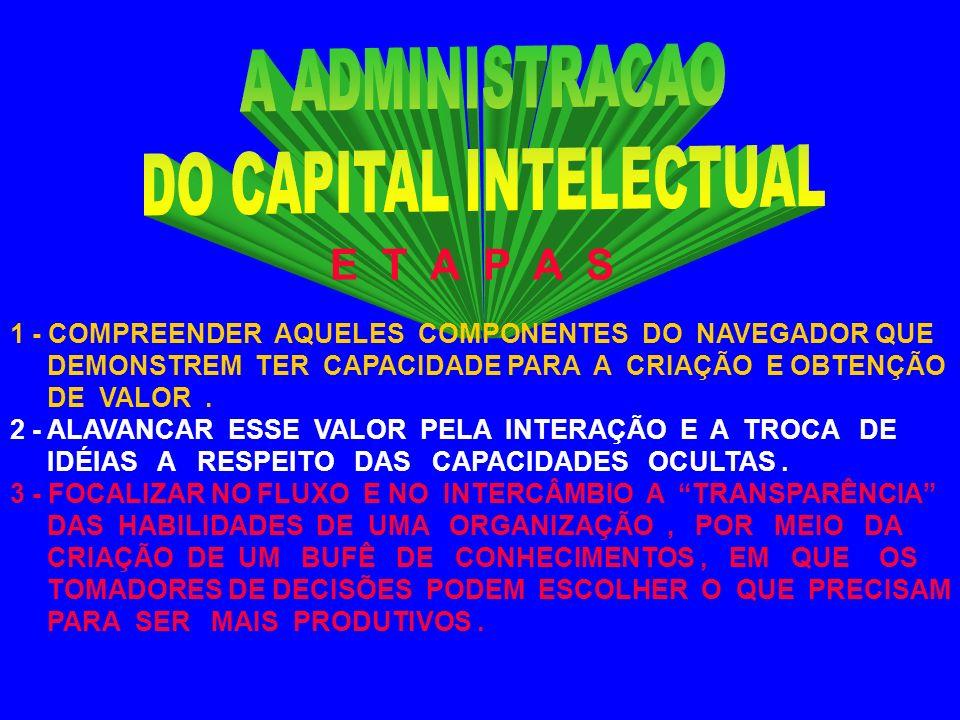 ** C A P I T A L I Z A Ç Ã O USO DA TECNOLOGIA ORGANIZACIONAL DIRECIONADA ( SISTEMA DE BANCO DE DADOS GERENCIAIS, FERRAMENTAS DE AUTOMATIZACAO ), BEM COMO DA PROPRIEDADE INTELECTUAL NA CRIAÇÃO DO C I.