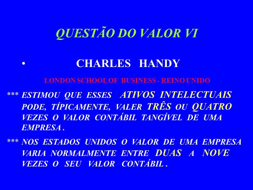 QUESTÃO DO VALOR V H.THOMAS JOHNSON PROFo. DE ADM.
