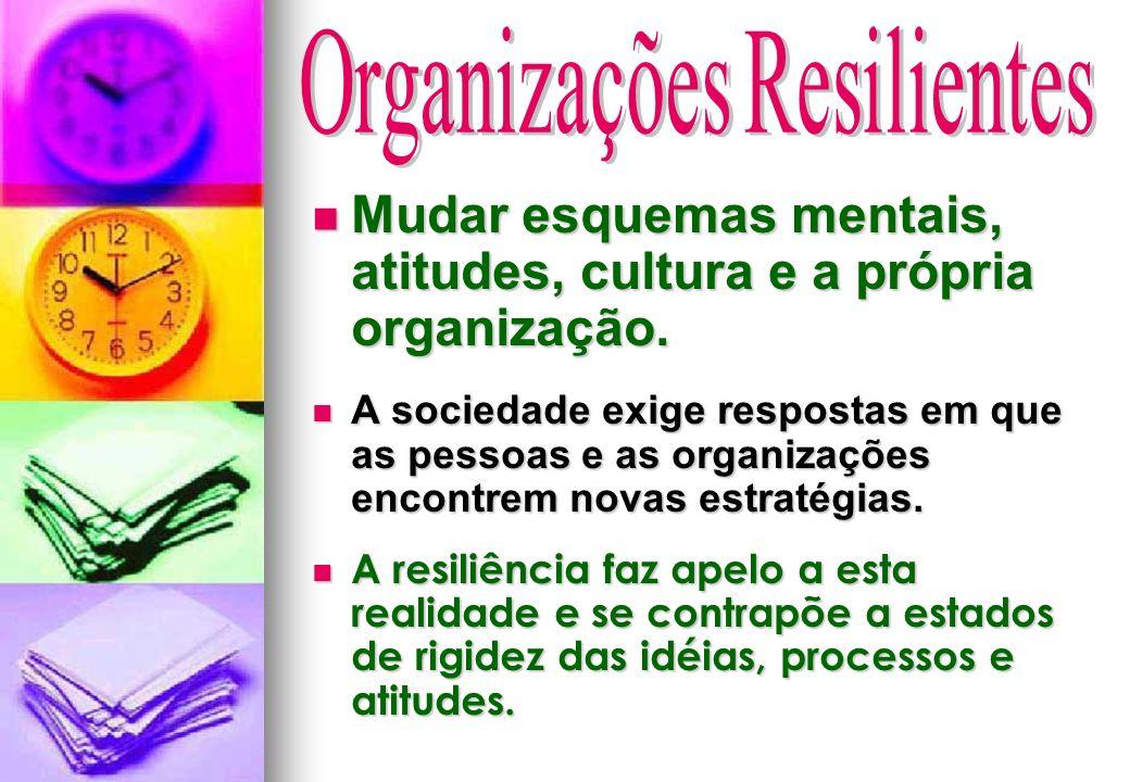 Mudar esquemas mentais, atitudes, cultura e a própria organização. Mudar esquemas mentais, atitudes, cultura e a própria organização. A sociedade exig
