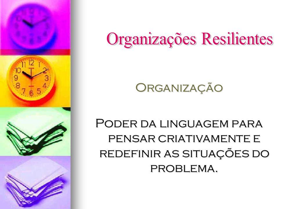 Organização Poder da linguagem para pensar criativamente e redefinir as situações do problema.