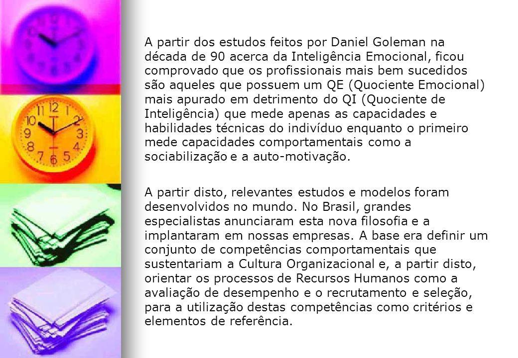 A partir dos estudos feitos por Daniel Goleman na década de 90 acerca da Inteligência Emocional, ficou comprovado que os profissionais mais bem sucedi
