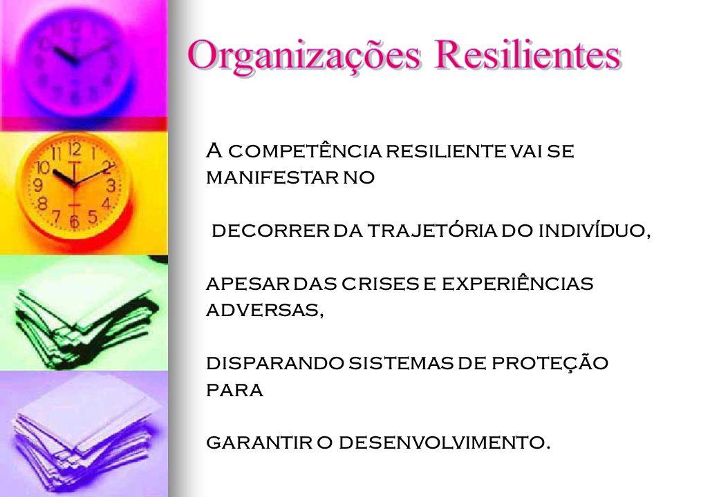 A competência resiliente vai se manifestar no decorrer da trajetória do indivíduo, apesar das crises e experiências adversas, disparando sistemas de p