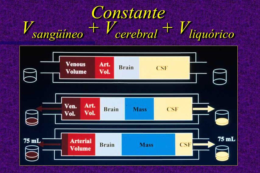 Constante V sangüíneo + V cerebral + V liquórico
