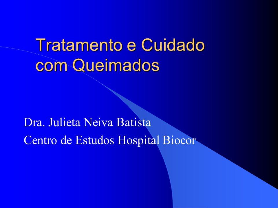 Tratamento e Cuidado com Queimados Dra. Julieta Neiva Batista Centro de Estudos Hospital Biocor