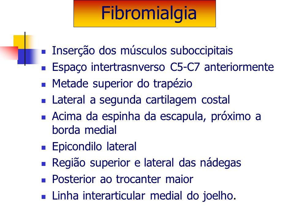 Inserção dos músculos suboccipitais Espaço intertrasnverso C5-C7 anteriormente Metade superior do trapézio Lateral a segunda cartilagem costal Acima d