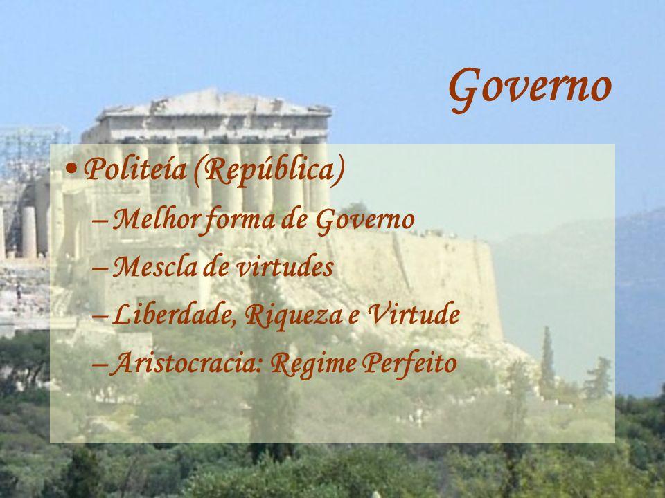 Estado Ideal Regime ideal –Baseado na virtude –Classe média –Deliberar (Legislativo) –Exercer a Magistratura (Judiciário) –Administrar a Justiça (Executivo)