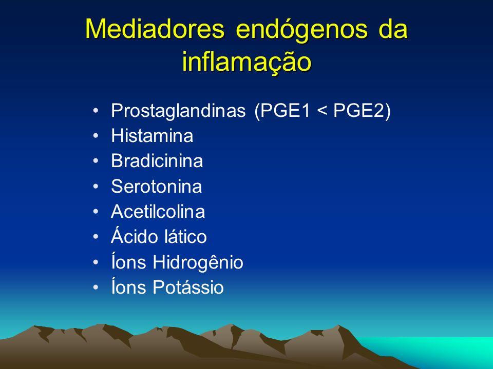 Neurotransmissores Moduladores da DOR EXCITATÓRIOS: –l-glutamato –Aspartato –Polipeptídeos intestinais vasoativos (VIP) –Colecistocinina –Peptídeo liberador de gastrina –Angiotensina –Substância P