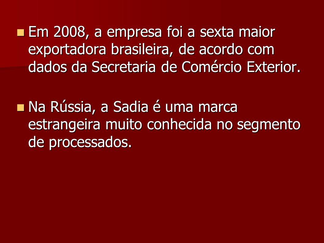 Em 2008, a empresa foi a sexta maior exportadora brasileira, de acordo com dados da Secretaria de Comércio Exterior. Em 2008, a empresa foi a sexta ma