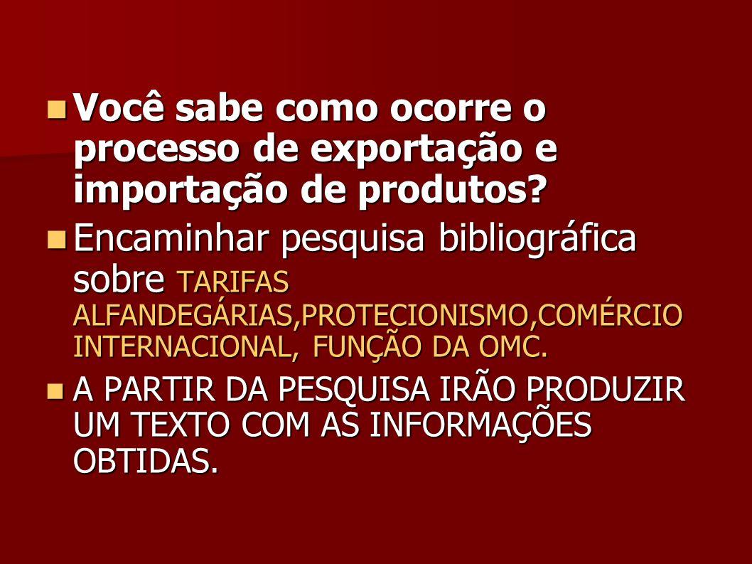 Você sabe como ocorre o processo de exportação e importação de produtos.