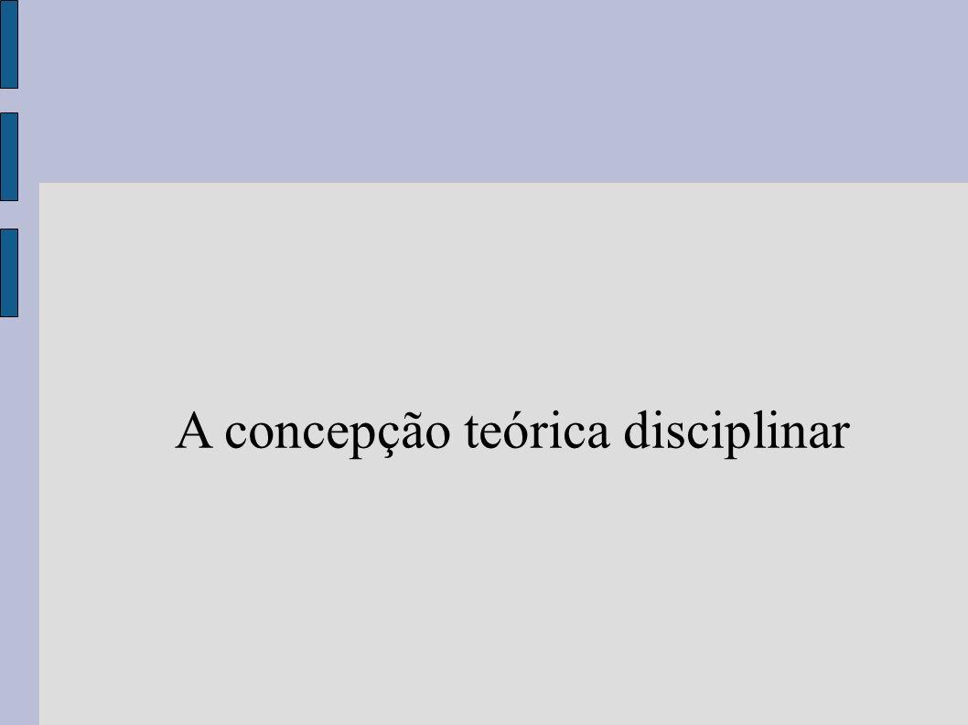 A concepção teórica disciplinar