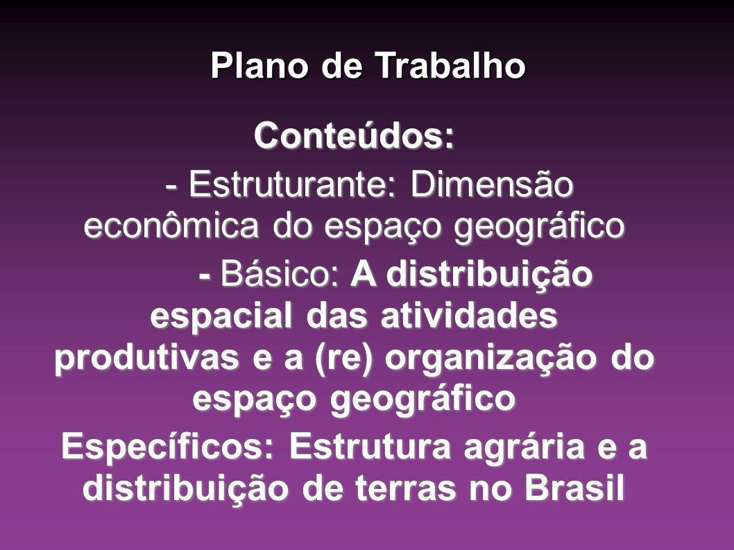 Justificativa: Entender a importância econômica, política e cultural na formação e distribuição de terras no Brasil.