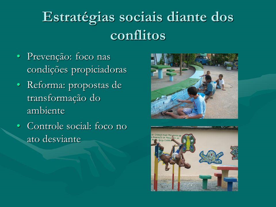 Formas de Controle Social 1.Envolvendo apenas as partes do conflito 2.