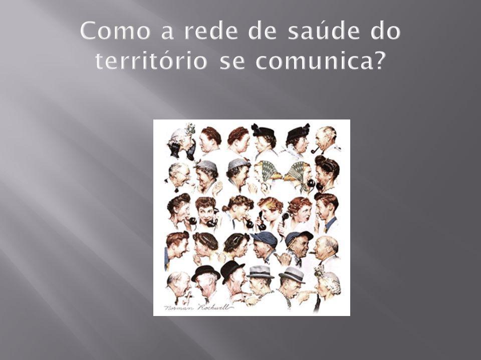 Como a rede de saúde do território se comunica?