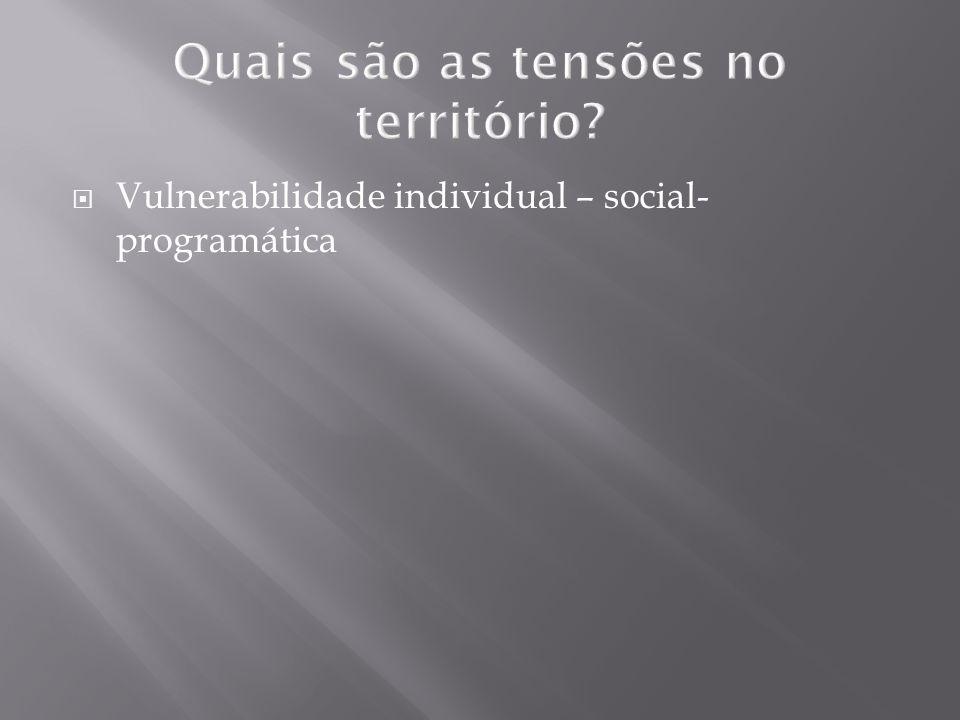 Quais são as tensões no território? Vulnerabilidade individual – social- programática