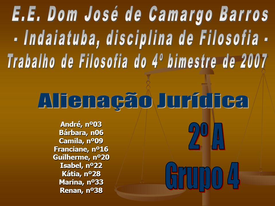 André, nº03 Bárbara, n06 Camila, nº09 Franciane, nº16 Guilherme, nº20 Isabel, nº22 Kátia, nº28 Marina, nº33 Renan, nº38