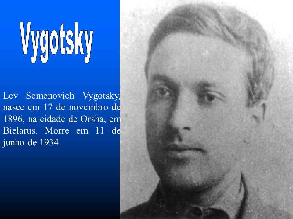 Lev Semenovich Vygotsky, nasce em 17 de novembro de 1896, na cidade de Orsha, em Bielarus.